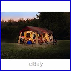 10 Person Cabin Tent With Front Porch Outdoor Camping Family 2 Rooms Large Dome