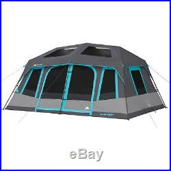 10 Person Instant Cabin Tent Family Camping Equipment Gear Sleeping Bag Hiking