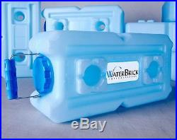 10 WATERBRICK Water, Food, Ammo, Stackable Portable Storage Containers BPA Free
