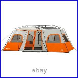 12 Person 18 X 10 Instant Cabin Tent With Integrated Led Light Camping Outdoor NEW