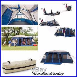 12 Person 2 Room Family Tent Instant SetUp Hiking Camping Outdoor Cabin Dome XL