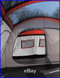 12 Person Family Cabin Camping Tent Red & Grey Adventure Outdoor