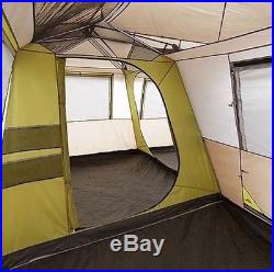 12 Person Large Camping Tent 3 Rooms Hiking Family Cabin Trail Hunting NEW