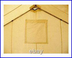 12' x 14' Canvas Wall Tent Water & Mildew Treated 10.1 oz Army Duck Canvas