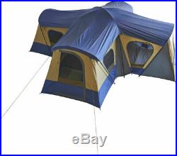 14-Person 4-Room Base Camp Cabin Tent with 4 Entrances Outdoor Family Shelter