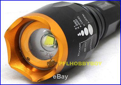1800 Lumen Zoomable CREE XM-L T6 LED 18650 Flashlight Torch Zoom Lamp Light GD