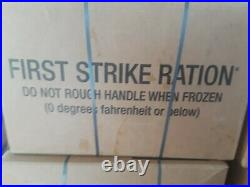 1 CASE MRE First Strike Ration INSP/TEST DATE 08/2022 PACKED DATE 08/2019