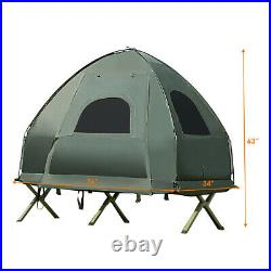 1-Person Compact Portable Pop-Up Tent/Camping Cot with Air Mattress Sleeping Bag