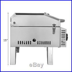 20000BTU Propane Tabletop Gas Grill Stainless Steel 2 Burner BBQ Camping Picnics