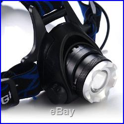2000lm CREE XM-L T6 LED 3-Mode Headlamp Headlight torch Light Lamp Rechargeable