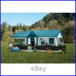 20X12' NEW Camping Blue Instant Family Cabin 3 Room Large Sealed 12 person TENT
