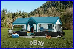 20X12 NEW Camping Blue Instant Family Cabin 3 Room Large Sealed 12 person TENT