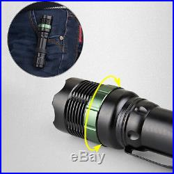 2200LM CREE XM-L T6 LED Zoomable 18650 Flashlight Torch Focus Lamp Light