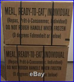 2 Cases A&B Military Spec MRE's 10/2017 Insp For Hunting-Camping