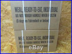 2 Cases A&B Military Spec MRE's 3-2018 isp For Hunting-Fishing-Camping-Prepping