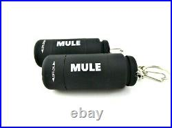 2 Pack MULE Black USB Rechargeable water resistant inspection torch key-ring EDC