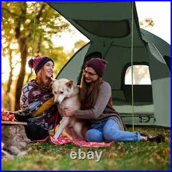 2-Person Compact Portable Pop-Up Tent/Camping Cot with Air Mattress & Sleeping Bag