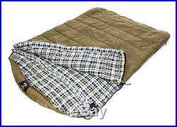 2 Person Sleeping Bag Cold Weather Zero Degree Teens Adults Camping Hiking Tent