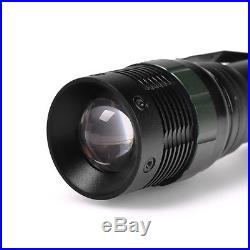 2x2000Lumen Rechargeable Tactical T6 LED Flashlight Torch+18650 Battery&Charger