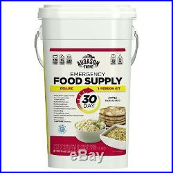 30 Day Emergency Food Supply Pail Storage 200 Servings Survival Ration Bucket