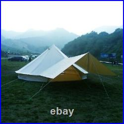 3M Waterproof Glamping Bell Tent Stove Jack Awning Rain Flying Canvas Yurts Tent