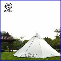 3-4 Person Ultralight Outdoor Camping Teepee 20D Silnylon Pyramid Tent Large