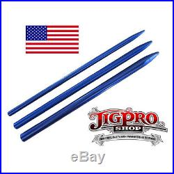 (3) Different Size Blue Paracord Fids, Lacing, Stitching Needles