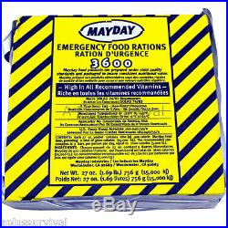 45 Meals 3600 Calorie Emergency Survival Food Bar Rations Car Kits Bug Out Bags