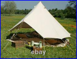 4M Canvas Camping Bell Tent Hunting Glamping Family Yurt Canopy Tent Party