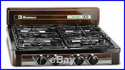 4 Burner Portable Propane Gas Stove Outdoor Camping Cooking RV Kitchen Cooktop