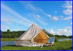 4 Metre 320gsm Canvas Bell Tent with Pegged In Groundsheet By Bell Tent Boutique