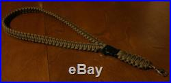 550 Paracord Survival Neck Lanyard Strap / Key Chain Fob / Coyote Brown
