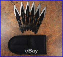 5 1/2 Throwing Knives set of 6 with sheath ThunderBlade