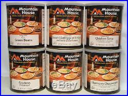 6 #10 Cans Mountain House Freeze Dried Emergency Food Variety Pack 1