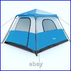 6 People Waterproof Automatic Instant Up Tent Family Camping Hiking Outdoor