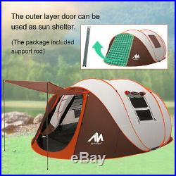 6 Person Instant Pop Up Camping Tent Waterproof Family Hiking Cabin Dome Rainfly