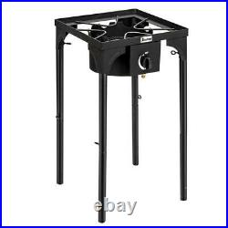 75000 BTU Outdoor Cooking Gas Single Propane Stove Camp Burner Picnic Grill BBQ
