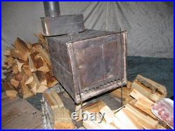 7,5lbs Collapsible Wood Burning Stove for Outfitter Canvas Hot Bell Tent Folding
