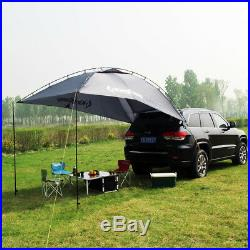 7x10 ft 9.7 lbs Car Tent Awning Rooftop Tent Sun Shade SUV Camping Travel Gray