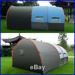 8-10 People Camping Tent Windproof Tunnel Double Layer Large Family Canopy US