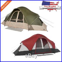 8-Person 2 Rooms Outdoor Tent Camping Family Cabin Shelter Hiking with Mud Mat