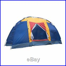 8 Person Portable Family Large Tent for Traveling Camping Hiking &Blue