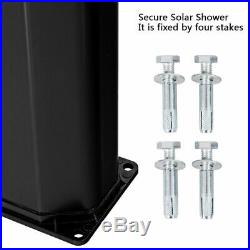 9.3 Gallon Outdoor Solar Heating Shower 7.2Ft Adjustable Shower Head WithBase