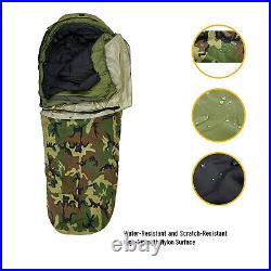 Army Military Modular Sleeping Bags System Multi-layer with Bivy Cover Woodland
