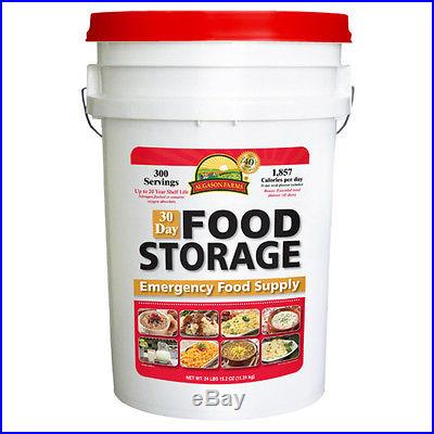 Augason Farms 30 Day Supply Food Pouch Emergency Survival Disaster Pail Kit MRE