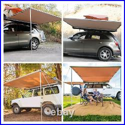 Awning Retractable SUV Rooftop Side Tent Shelter Waterproof UV Camping 7.68.2ft