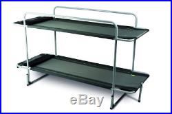 BUNKIE EASY SET UP FOLDING BUNK BED for camp & camping Kampa