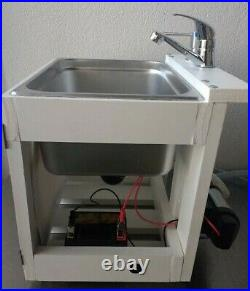 Battery Operated Portable Table Top Camping Sink / Garden Hand Washing Sink