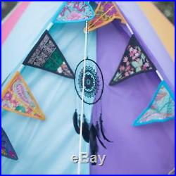 Boutique Camping 4m Weekender Polyester Bell Tent Rainbow