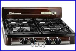 Burner Stove Top Outdoor Cooking Propane Gas Portable Black Camping Griddle